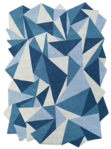 Dubuffet Iceberg bleu blue nattier gris argent ciel