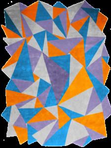 Dubuffet Purple Sunset bleu blue orange