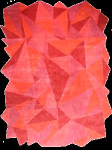 Dubuffet Sunset rouge