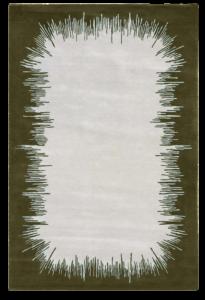 Ikat tapis rug carpet grey gris green vert Chelsea